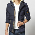 2015 Men's Winter Plus Thick Velvet Solid Color Hooded Jacket Plus Thick Velvet Hooded Men Warm Coat Slim Tide Male