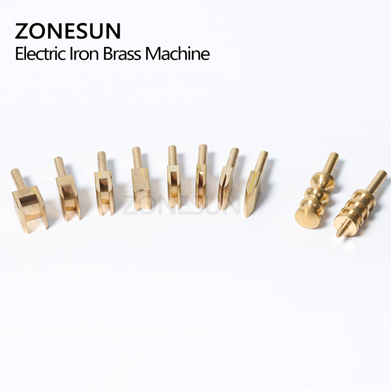 ZONESUN 10PCS Single Line 1-8mm Leather Edge For Sealing DIY Tool Brass Soldering Iron Edge Marking Leathercraft Tool Embosser