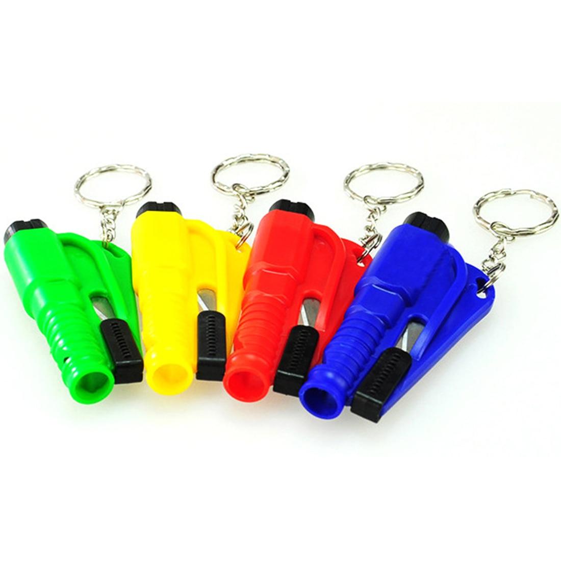 Werkzeuge Hammer 5 Farben Auto Auto Mini Sicherheit Glas Fenster Brechen Hammer Notfall Flucht Rescue Tool Mit Keychain Sitz Gürtel Messer Cutter Direktverkaufspreis