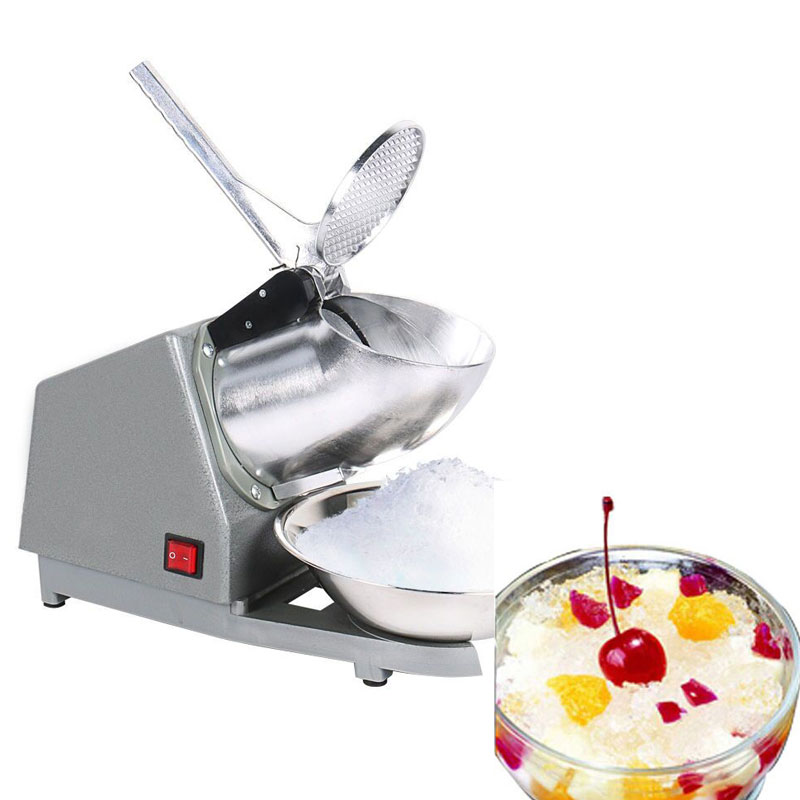 Ice Shaver Machine Snow Cone Maker Stainless Steel Electric Ice Crusher Shaving Summer edtid electric commercial cube ice crusher shaver machine for commercial shop ice crusher shaver