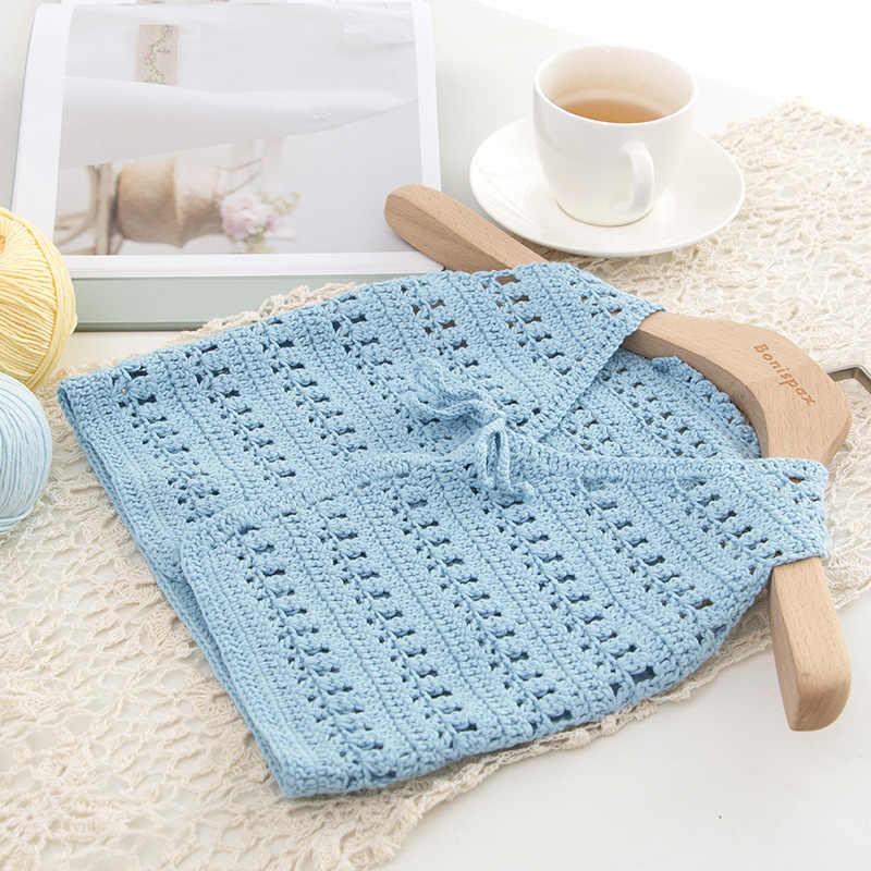 1 bal x50g Katoen Naalden Gehaakte Weven Draad Garen Zachte Warme Baby Garen voor Hand Breien Milieuvriendelijke Wol Garen Voor breien