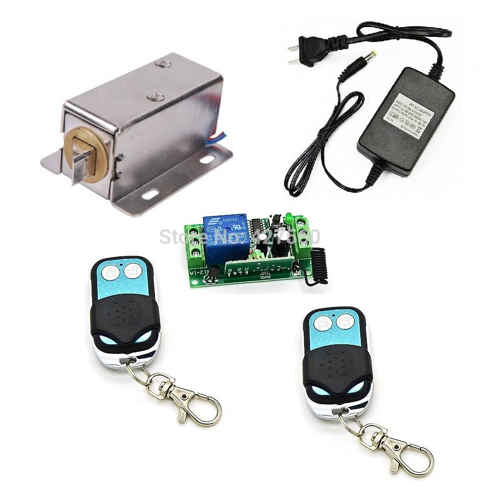 Remote Control Cabinet Electronic Lock  Electric Bolt Lock For Lockers, Gun Cabinets, Cash Drawer