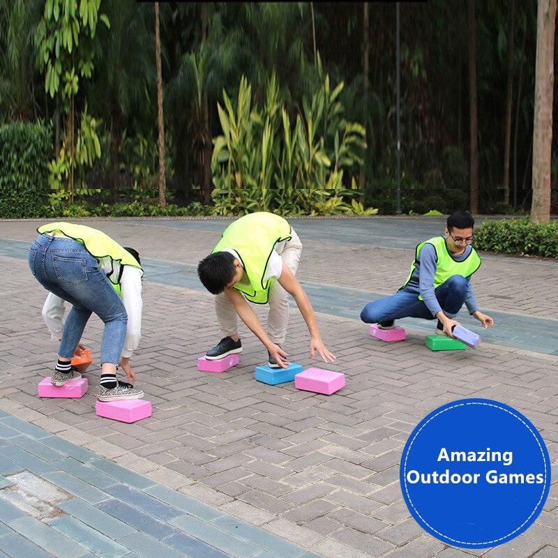 Brinquedo divertido blocos de jogos ao ar livre brinquedos do esporte eva espuma tijolos pais crianças jogo da equipe empresa jogos festa alta densidade bloco yoga