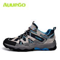 2016 New Arrival Noenname Null Men Rubber Lace Up Genuine Leather Rubber Cotton Fabric Hiking Shoes