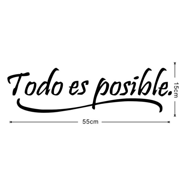 Online Shop Everything Is Possible Spanish Inspiring Quote Wall Sticker For  Living Room Motivational Quotes Home Decor Wall Decals Wallpaper |  Aliexpress ...