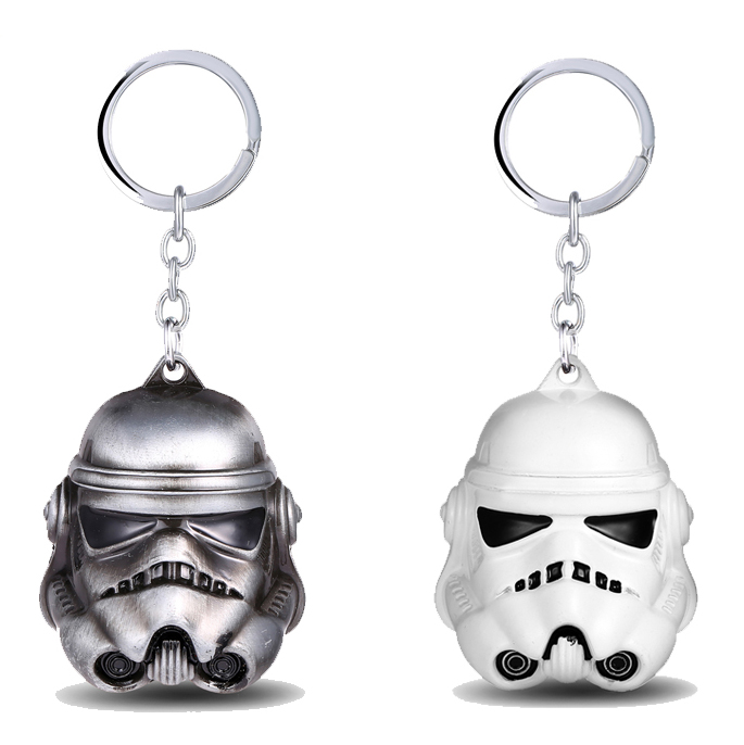 MS JEWELS Movie Star Wars 3D stormtrooper Keychain Metal Key Rings For Gift Chaveiro Key Chain Jewelry