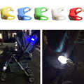 80pcs/Lot Night Silicone Caution Lamp For Baby Kid Stroller Light Night Out Safety Security Alert Light LED Flash Caution Lamp