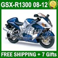 7 подарки + новый горячий для SUZUKI Hayabusa GSXR1300 GSX R1300 GSX R1300 1544 GSXR 1300 08 09 10 11 12 12 синий серебро GSXR 1300 зализа