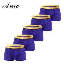 ARNO Brand Men Underwear 4Pcslot Sexy Men Cotton Underwear Men Printed Boxer Shorts Boxers Mens Underwear