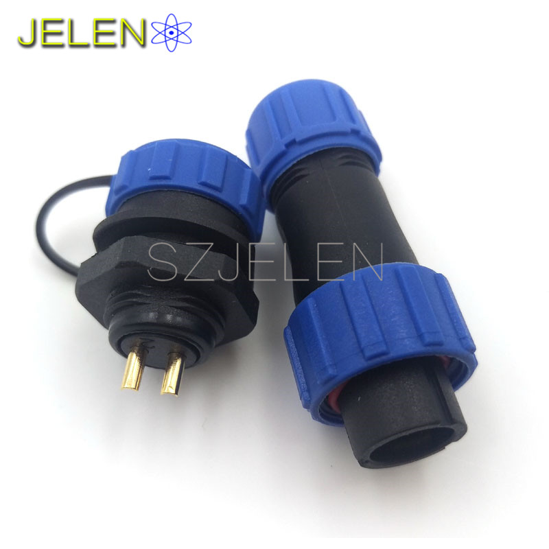 SP1310, 2 pin waterproof connector, Power wire connectors, cable connectors , automotive connectors, Plug and socket, IP68 sp1310 waterproof