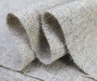 Flax Wool Cardigan Color Beige Plaid Suit Pants Natural Fiber Wool Fabric Grade Cloth Coat Wide