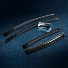 Дефлектор окон (НАКЛАДНОЙ скотч 3М) 4 шт. for HYUNDAI SOLARIS 2011-2017 седан