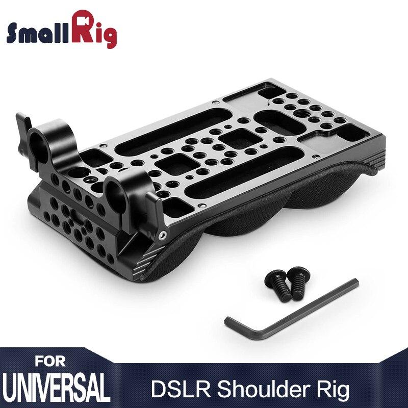 SmallRig DSLR Universal Épaule Pad avec 15mm RailBlock Mémoire Mousse Lumière Poids Caméra Épaule Kit 2077