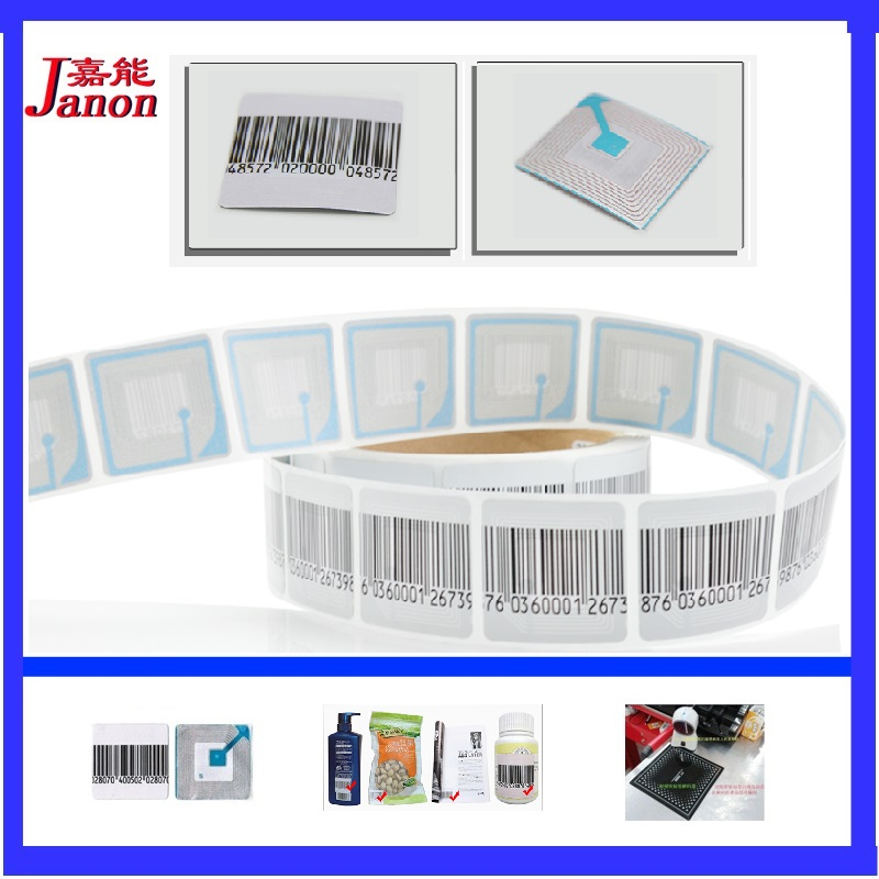 RF 8.2Mhz EAS Soft Label 4cmX4cm 1000pcs, Anti Theft Security Barcode Label, Supermarket Anti Theft Security Alarm Label