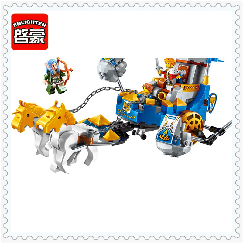 ENLIGHTEN 2310 War of Glory Castle Knights Horse Building Block Compatible Legoe 246Pcs DIY Educational  Toys For Children конструктор enlighten brick the war of glory 2315 casle silver hawk 656 дет 243959