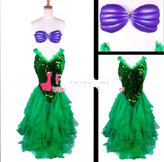 Free Shipping The Little Mermaid Ariel Skirt Princess Dress Cosplay Costume Tailor-made 2017 the little mermaid ariel skirt princess ariel costume dress for adult cosplay costume tailor made