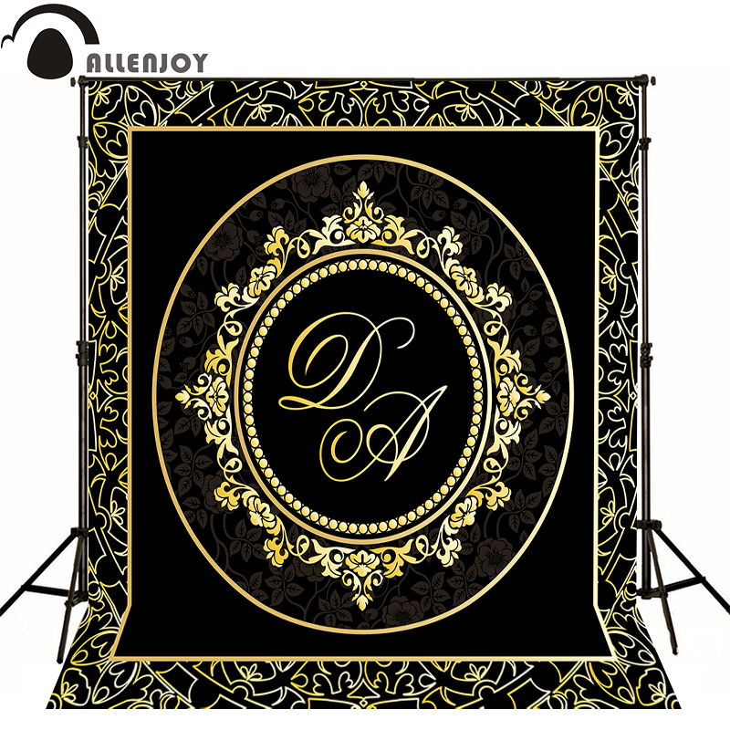 Allenjoy Photographic background Luxury elegant gold pattern original design photocall vinyl custom backdrops недорого