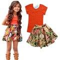 new arrive children's T-shirt + flower skirt for the girl dress children suit baby girls clothes