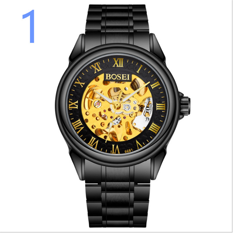 men Fashion Watch Leather Band Concise Casual Luxury Business Wristwatch08