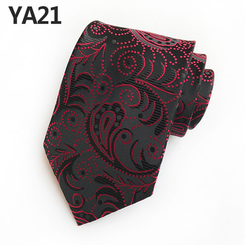 21 Styles Ties for Men Paisley Flower Necktie Wedding Business Party Jacquard Gravatas Silk Ties 8cm Fashion Mens Ties new mens tie blue gold paisley silk jacquard neck ties business wedding party ties for men
