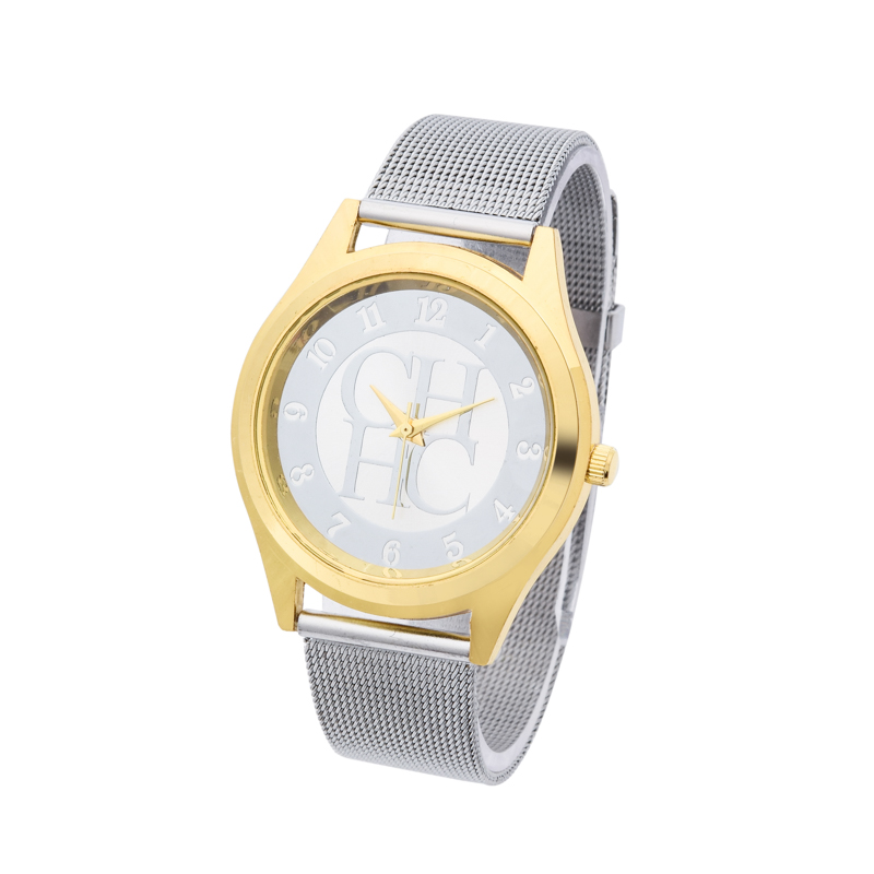 2018 New Brand Gold Silver Casual Quartz Watch Klockor Metal Mesh - Damklockor - Foto 4