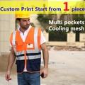 Alta qualidade reflexiva orange colete para homens oi vis colete de segurança colete de segurança do tráfego workwear frete grátis