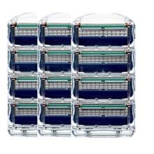 12 шт./упак. Giulietta бритвенные лезвия для мужчин 5 слоев бритвы кассеты для мужчин бритвенные лезвия совместимы с Gillettee Fusione