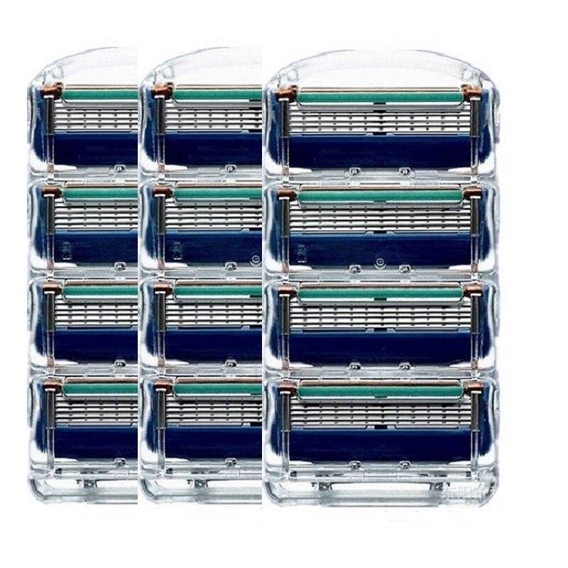 12 teile/paket Giulietta Rasierklingen Für Männer 5 Schicht Rasierer Kassetten Männer Rasierklingen Kompatibel mit Gillettee Fusione