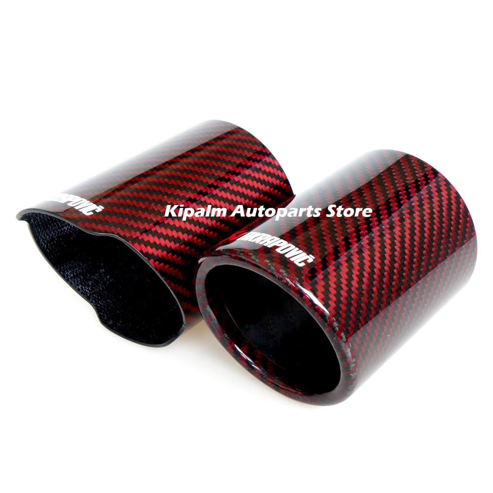 Kipalm Car Universal Exhaust Pipe Carbon Fiber Cover Exhaust Muffler Pipe Tip