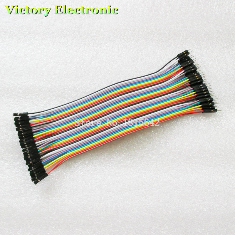 New 40pcs/1Row, 20cm 1P-1P Female To Male Jumper Wire Dupont Cable For Breadboard Wholesale Electronic