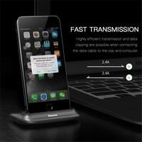 Baseus Desktop Docking Charger For IPhone Data Sync Charging Desktop Holder Stand For IPhone 6s 7