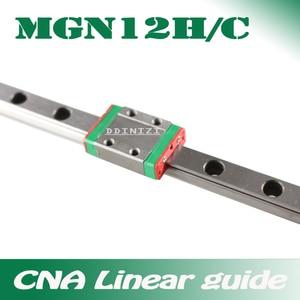 12mm Linear Guide MGN12 100 150 200 250 300 350 400 450 500 550 600 700 mm Linear Rail + MGN12H or MGN12C block 3d printer CNC(China)