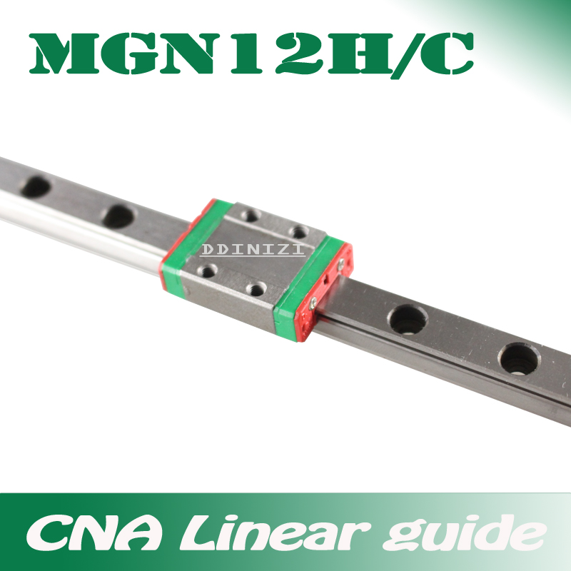 12mm Linear Guide MGN12 100 150 200 250 <font><b>300</b></font> 350 400 450 500 550 <font><b>600</b></font> 700 mm linear rail + MGN12H or MGN12C block 3d printer CNC image