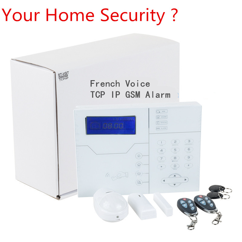 2019 Best Alarm French Voice TCP IP GSM Alarm System Smart Home Security Alarm With 8 wired zone and 32 Wireless Zone Alarm