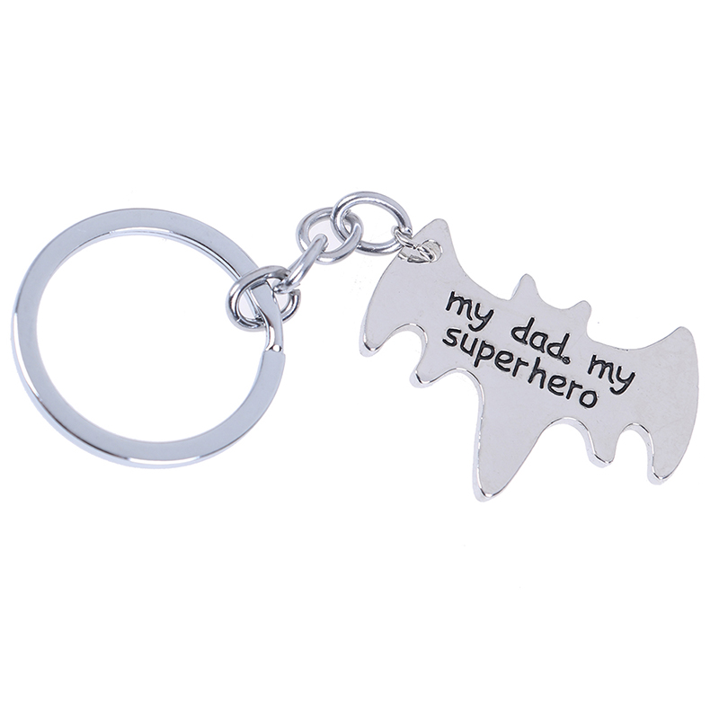 My Dad My Superhero Batman Keyring You/'re My Superhero Fathers Day Man Gift Love