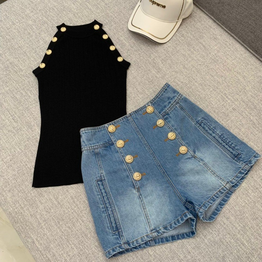 2019 Spring and Summer New Heavy Satin Beaded Shorts 0326