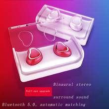 Bilateral Smart Bluetooth 5.0 earphones noise reduction portable Invisible Waterproof Stereo Surround sound HD Call Charging Box hifi smart bluetooth earphones biaural stereo surround sound denoise waterproof charging box hd call biaural separation design
