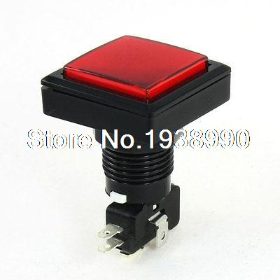 Panel Mounted Red Light SPDT Momentary Game Square Push Button Switch отвертка sturm 1040 03 sl8 200