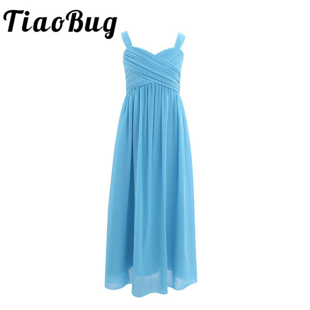 TiaoBug Sommer Kinder Mädchen Teenager Brautjungfer Kleid Prinzessin ...