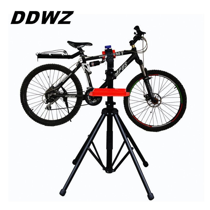 DDWZ Bike Repair Stand Bicycle Alloy Repair Desk Tool Aluminum High Quality Bicycle Accessories Mountain Parking Hanger Tools 44pcs set mountain bike patchs maintenance repair box diagnostic tools kit valuables cycling chain case bicycle accessories