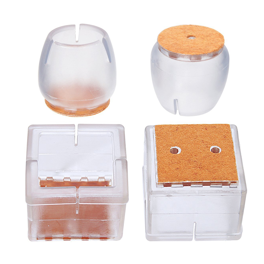 square Drop Shipping Romantic 20 Pcs 3-3.5cm Chair Leg Caps Furniture Feet Pads Wood Floor Protectors Set Table Covers Furniture Cups Hardware