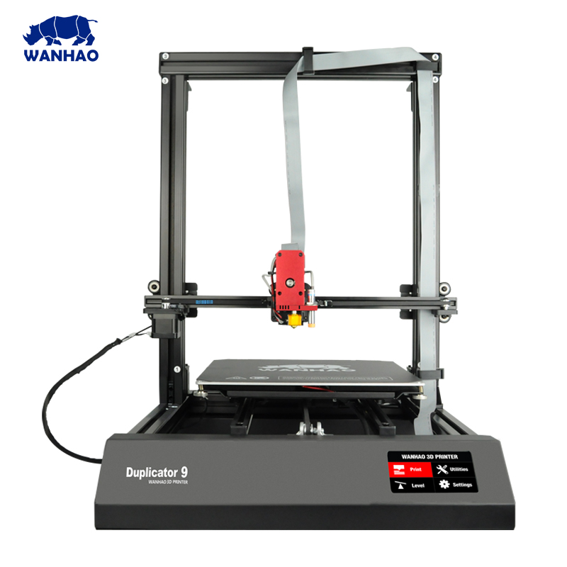 цены на 3D Printer wanhao D9 Pulley or Linear Plus Half of Assembled with Auto Leveling Large 3D Printing Size Impressora 3D DIY Kit