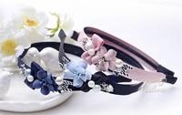 Kore tarzı bez sanat çiçek Kafa Firkete Kafa aksesuar Ücretsiz Nakliye