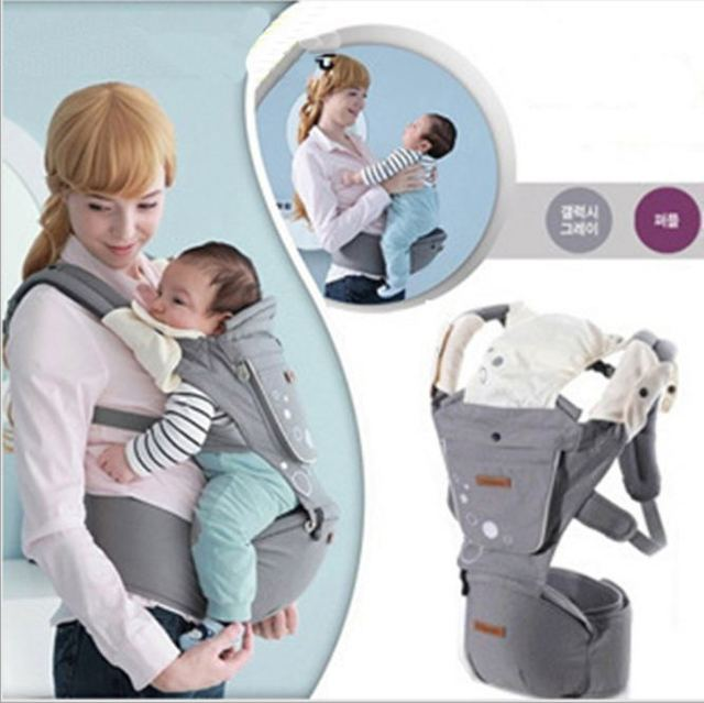 high quality 2016  Cotton Ergonomic Baby Carrier Multifunctional Baby Wrap Breathable Baby Gear Slip Sling Sale A001