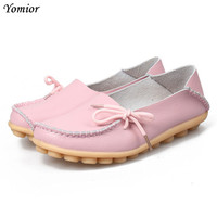 Large Size Leather Women Flats Mother Shoes Casual Moccasins Driving Loafers Women S Shoes Fashion Comfortable