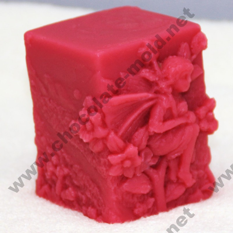 flower soap square mold cake decoration mold fairy candle mould DIY mold R1011 rtv silicone rubber