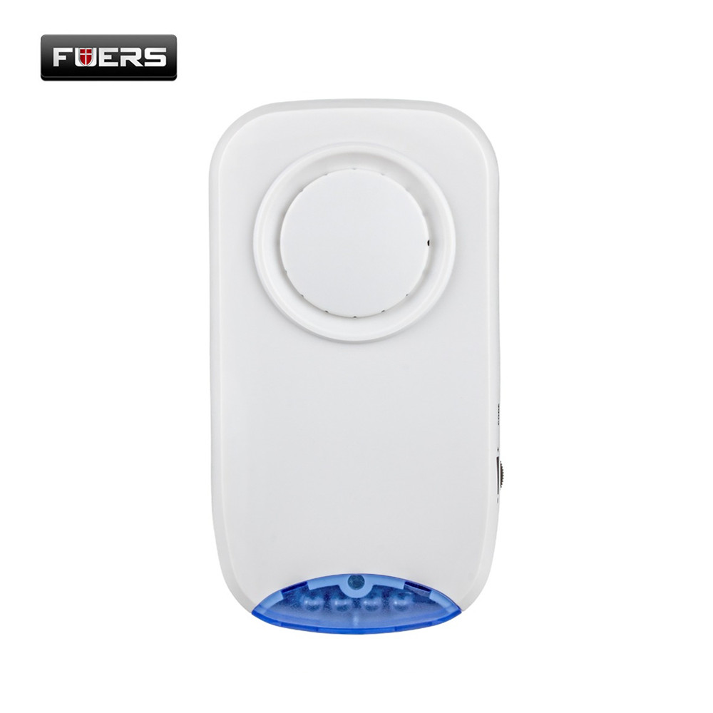 Fuers 100db Wireless Loud Alarm Siren Horn 4 Led Red Fiashing Indoor Siren For Home Security Protection System Alarm Systems dc12v wired loud alarm siren horn outdoor with bracket for home security protection system alarm systems security home elesael