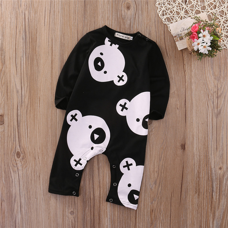 Newborn Baby Clothing Boy Girl Footed Rompers Animal Baby Bear Romper Long Sleeve Fleece Clothes Pajamas New born Baby Product penguin fleece body bebe baby rompers long sleeve roupas infantil newborn baby girl romper clothes infant clothing size 6m