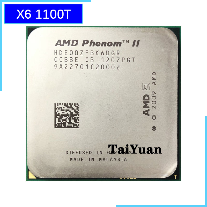 AMD Phenom II X6 1100T 1100 3 3 GHz Six Core CPU Processor HDE00ZFBK6DGR Socket AM3