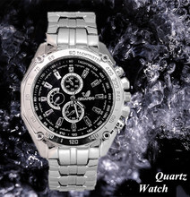 New ORIANDO Brand Man Watches Quartz Silver color Stainless Steel Wristwatch Male Classic Dress Business Watch Hour Wholesale
